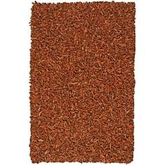 Shop for Hand Tied Pelle Copper Leather Shag Rug (8' x 10'). Get free shipping at Overstock.com - Your Online Home Decor Outlet Store! Get 5% in rewards with Club O! - 13993564