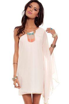 Grecian Goddess Dress in Ivory $35 at www.tobi.com     i like it in coral