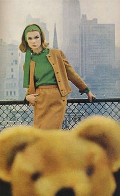 fashion editorial 60s vogue england autumn leaves - Google Search
