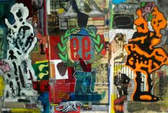 Glory (Minuteman, Legionnaire, Fasces Bearer), mixed media and collage on Plexi, 3 panels,  2014