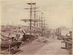 Circular Quay, Sydney in 1877 National Library of Australia.