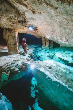 The incredible underground cenote Tak Be Ha in Tulum!- Die unglaubliche unterirdische Cenote Tak Be Ha in Tulum! Lesen Sie unsere Cenote Gu The incredible underground cenote Tak Be Ha in Tulum! Read our Cenote Gu … – - Vacation Places, Dream Vacations, Vacation Spots, Maui Vacation, Mexico Vacation, Disney Vacations, Vacation Ideas, Maui Travel, The Places Youll Go