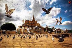 Royal Palace by Bunnawath B-FOTO    The Royal Palace (Khmer: ព្រះបរមរាជាវាំងនៃរាជាណាចក្រកម្ពុជា , Preah Barum Reachea Veang Nei Preah Reacheanachak Kampuchea), in Phnom Penh, Cambodia, is a complex of buildings which serves as the royal residence of the king of Cambodia. Its full name in the Khmer language is Preah Barum Reachea Veang Chaktomuk