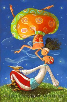 Mariana Kalacheva was born  in Plovdiv, Bulgaria on June 9, 1977. She graduated from the AMDFA/ Academy of Musik, Dance and Fine Arts in Plovdiv. She obtained a Masters Degree in Speciality Graphics as well as in Pedagogy of Fine Arts. Her works are colorful & whimsical / http://kalacheva.com