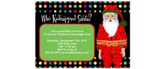Who Kidnapped Santa? A great game for a holiday party. Can't wait to play it this year. =)
