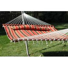 Darby Home Co Kenyon Double Tree Hammock Rope Hammock, Hammock Chair, Egg Swing Chair, Hanging Swing Chair, Swinging Chair, Free Standing Hammock, Double Hammock With Stand, Patio Lounge Furniture