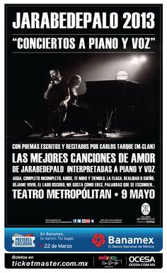 JarabeDePalo, 9 de mayo, Teatro Metropólitan #APianoyVoz