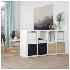 The basket has many potential uses and is dimensioned for KALLAX shelving, giving it a unique look and function. Kallax Shelving, Shelves, Licht Box, Kallax Regal, Storage Solutions, Cleaning Wipes, Design, Helsinki, Home Decor