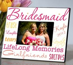 Unique bridesmaid gift ideas