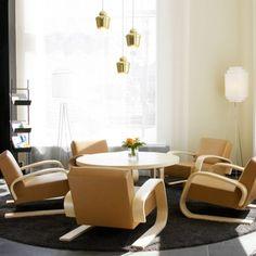 Alvar Aalto Furniture by Artek Alvar Aalto, Scandinavian Home, Contemporary Furniture, Floor Chair, Furniture Design, Lounge Furniture, Upholstery, Interior Design, Room