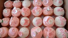 36 Baby shower / baby girl / cupcake toppers / gum paste/fondant cupcake topper by CherisSweets on Etsy