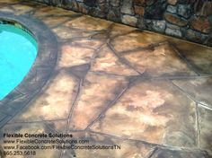 Knoxville TN Pool Flagstone Concrete Coatings