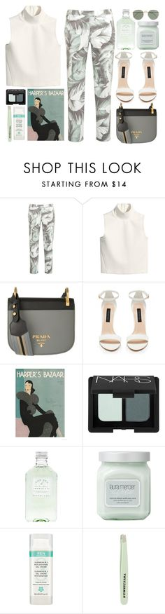 """""""PIONNIÉRE"""" by mariimontero ❤ liked on Polyvore featuring Armani Jeans, H&M, Prada, Forever New, NARS Cosmetics, Laura Mercier, REN, Tweezerman and J.Crew"""