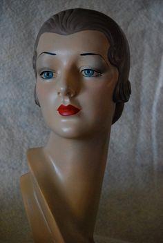 mannequin head, vintage manneqin head, mannikin head, manikin head, jewelry display, mannequin bust on Etsy