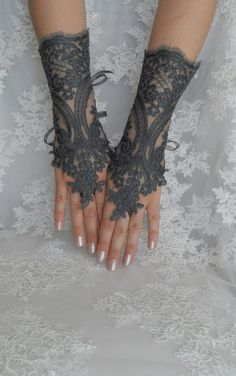 WANT! - Wedding gloves bridal gloves fingerless by WEDDINGHome, $30.00