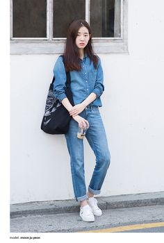 Denim on denim. I think I have to try it on me.