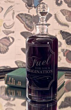 etched vintage decanter by www.vinegarandbrownpaper.co.uk