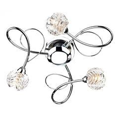 Lana 10 Light Chrome Flush Lighting Flush Ceiling