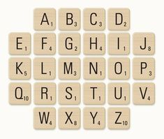 scrabble tile print outs