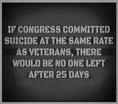 Get the military help now!  It's such a damn shame that this is happening here.  They need help, not to be told that they need to wait, or their program has ended and they need to look elsewhere now.  These men and women would have given their lives for us and to have them come home and feel so lost because of what they've done or watched and then be treated like this is despicable.