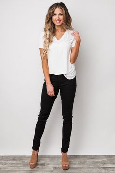 new style cada7 76f9d Everything Black Skinny Jeans