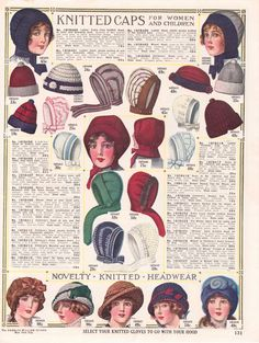 Vintage knitted hats