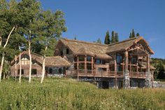 Huge Log Homes | Big Sky Log Home Plan | Log Home Floor Plans