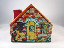 Chein Tin Litho Three Little Pigs House Bank c.1930