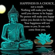 Happiness comes from you and no one else.