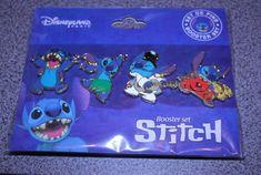 Disney pin set STITCH Disneyland Paris Booster set of 4 pins