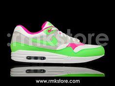 competitive price 9e982 3fdd5 Nike Air Max 1 White Neon Green (308866-100)