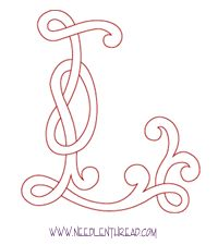 Monogram for Hand Embroidery: Celtic L – Needle'nThread.com