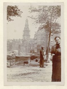 Amsterdam: Zuiderkerk in viewed from Zwanenburgwal, James Higson, 1904. Collection Rijksmuseum