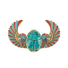 Egyptian Revival Gold, Carved Faience Scarab and Enamel Pin. Meghan GT onerubberduck Extraordinary Jewels Egyptian Revival Gold, Carved Faience Scarab and Enamel Pin. Centering a turquoise blue faience scarab, flanked by blue, Ancient Egyptian Jewelry, Egyptian Scarab, Egyptian Tattoo, Antique Jewelry, Vintage Jewelry, Vintage Brooches, Egypt Jewelry, Long Pearl Necklaces, Art Nouveau Jewelry