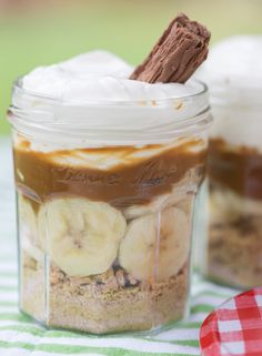 No Bake Desserts, Dessert Recipes, Banoffee Pie, Jam Jar, Wedding Cakes, Muffins, Food And Drink, Pudding, Sweets