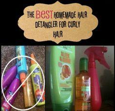 The BEST Homemade Hair Detangler Spray for Curly Hair