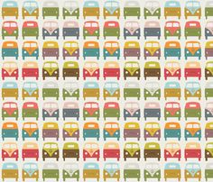 VW_Bus1 fabric by sarak721 on Spoonflower - custom fabric  LOVE!!