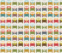VW_Bus1 fabric by sarak721 on Spoonflower - custom fabric  LOVE!!