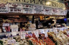 Pike Place Farmers Market in Seattle - Where they throw you the fish....