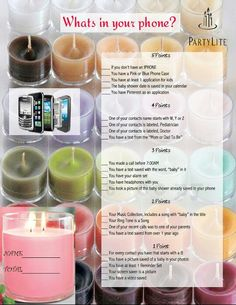 What's on your phone game!! www.partylite.biz/mrowca