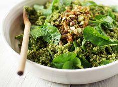 green quinoa bowl // good things grow