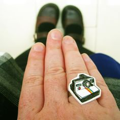 Polaroid shrink plastic ring by Nice Day Designs