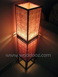 how to make a fabric floor lamp - Google Search