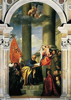 Pesaro Madonna or Madonna di Ca' Pesaro by Titian (1519-1526) Santa Maria Gloriosa dei Frari, Venice