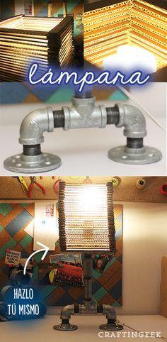 Hice una lámpara de metal inspirada en The Boxtrolls, para decorar tu cuarto. Se me hizo algo geek y no es complicada como parece.