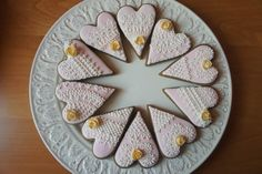 Royal icing engagement cookies | Cookie Connection Lace Cookies, Heart Cookies, Engagement Cookies, Brush Embroidery, Valentine Cookies, Royal Icing, Biscotti, Cookie Decorating, Cake Pops
