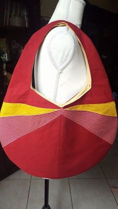 Sac Candy cousu par Les folies de Cajumy - toile coton et tissu japonais seigaiha - Patron Sacôtin