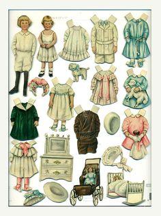Antique Vintage Lettie Lane Magazine Paper Dolls Youngest Wedding Guest Ladies Home Journal Sheila Young 1910 Edwardian Victorian