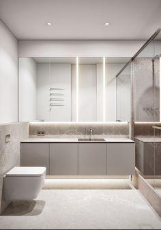 Decoración minimalista - Ideas simples para animar un interior minimalista. Bathroom Design Layout, Home Room Design, Modern Bathroom Design, Bathroom Interior Design, Diy Bathroom Decor, Bathroom Furniture, Interior Minimalista, One Bedroom Apartment, Minimalist Interior