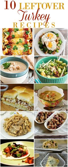 Put those Thanksgiving leftovers to good use and pick one of these 10 Leftover Turkey Recipes to make!   Leftover Recipes   Turkey Recipes